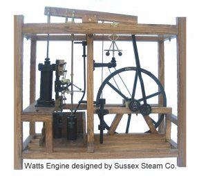 Live Steam Model of James Watts Engine